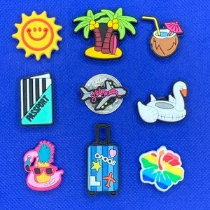 Vacation Theme Shoe Charm Set